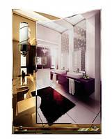 Современное зеркало для ванной комнаты (размер 70х50 см, светильник, подложка)