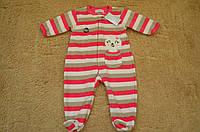 Детский флисовый человечек, пижамка Примарк р.6-12мес