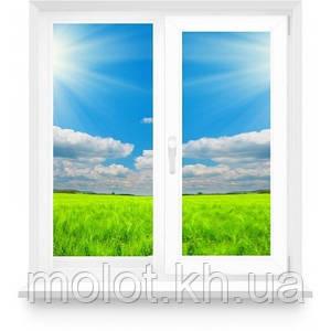 """Металопластикове вікно в кімнату, кухню з однією стулкою в 9-ти, 12-ти поверховий будинок, """"Полька"""""""