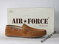 Мужские мокасины Air Force Italia натуральная замша 43