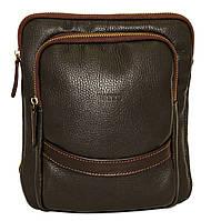 Кожаная мужская сумочка Mk12.2 коричневая
