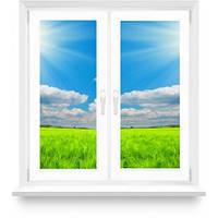 """Металлопластиковое окно в комнату, кухню с двумя створками, в 9-ти, 12-ти этажный дом,  """"Полька"""""""