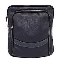 Кожаная мужская сумочка Mk12.2 синяя