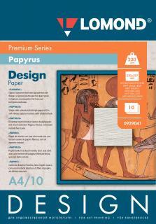 Односторонняя матовая дизайнерская фотобумага Папирус, A4, 230 г/м.кв, 10 листов