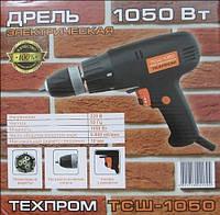 Шуруповёрт сетевой Техпром 1050 Вт (дрель электрическая) с метал. патроном SVT