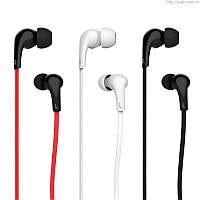 Наушники USAMS Leo Series In Ear Line Control черные, белые, черно-красные