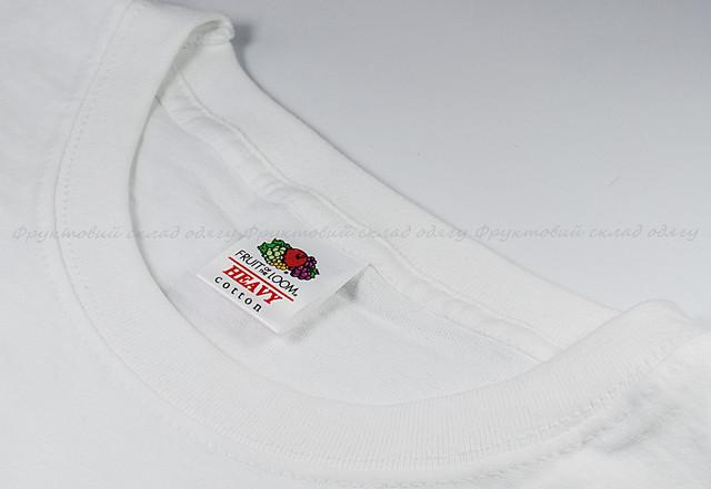 Белая мужская плотная футболка