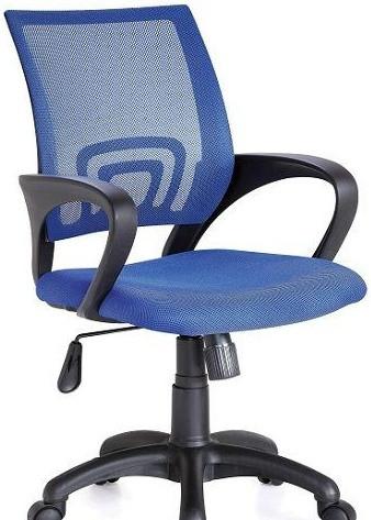 Кресло Веб сиденье Сетка синяя/спинка Сетка синяя.
