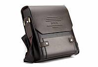 Мужская сумка - мессенджер  Polo кожаная (коричневая)