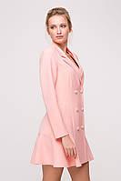 Платье с жемчужными пуговицами SOLI розовое