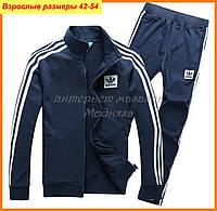 Мужской спортивный костюм адидас (воротник стойка)