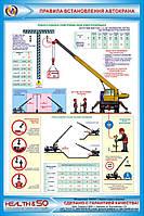 Стенд по охране труда «Правила установки автокрана» №1
