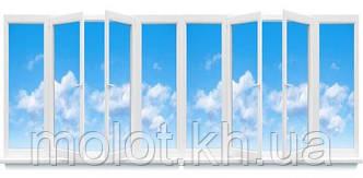 """Металлопластиковая балконная рама в 9-ти, 12-ти этажный дом, """"Улучшинка"""""""