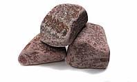 Камень для сауны Малиновый кварцит обвалованный 10 кг