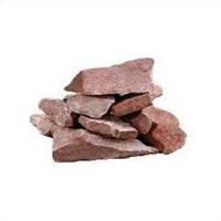 Камень для сауны малиновый кварцит колотый 10 кг