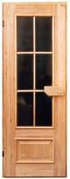 Двери деревянные со стеклом 400 х 1600
