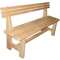 Деревянная скамейка для бани