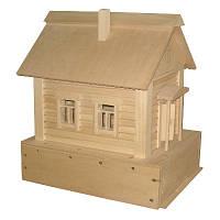 Деревянная игрушка конструктор Дом из дерева