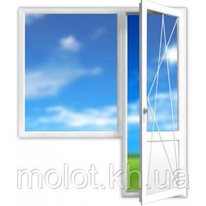 """Металлопластиковый балконный блок (большой), в 9-ти, 12-ти этажный дом,  """"Улучшинка"""""""