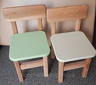 Детские стулья деревянные к квадратным столикам
