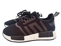 Женские черные легендарные кроссовки Adidas NMD Runner (Адидас НМД Раннер), точная копия 36 Vices