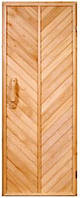 """Двери в баню деревянные """"Елочка"""""""