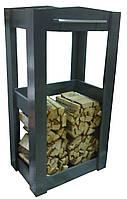 Дровница деревянная с колесиками