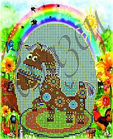 Схема для вышивки бисером Солнечная лошадь КМР 4030