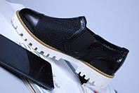 Туфли сетка на белой подошве