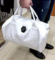 Мужская сумка Phillip Plein, белого цвета