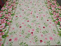 """Ткань для пошива скатертей рогожка Вишнёвый цвет / """"Чарівна Ніч"""", фото 1"""