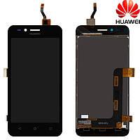 Дисплейный модуль (дисплей + сенсор) для Huawei Y3 2, черный, оригинал