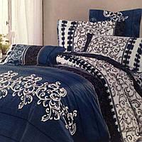 """Двуспальный комплект постельного белья """"Вензель джинс"""" В наличии , фото 1"""