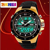 Часы наручные спортивные Skmei 1016 S-SHOCK Gold