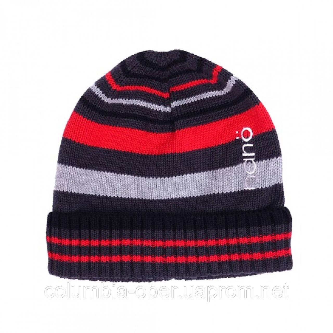 Демисезонная шапка  для мальчика  NANO 202 TUT F16 Glacier Gray.  Р-р  5/6х и 7/12.