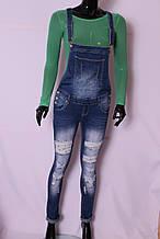 Жіночий джинсовий комбінезон (код RE3855)