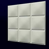 """Гипсовые 3D панели для стен """"Кубики"""""""