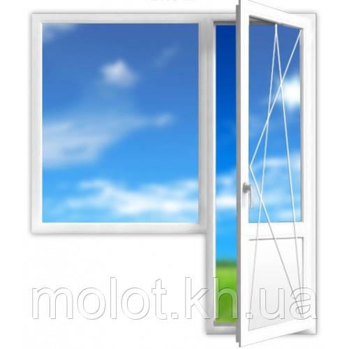 Металлопластиковый балконный блок в 16-ти этажный дом (маленький)