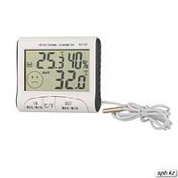 Влагомер для инкубатора (гигрометр), термометр, часы DC-103 с выносным датчиком  температуры
