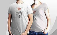 """Парні футболочки ручного розпису """"he & she = we"""", фото 1"""