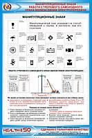 Стенд «Манипуляционные знаки. Работа стрелового самоходного крана вблизи линии электропередачи»