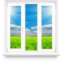 Металлопластиковое окно с двумя створками в 16-ти этажный дом