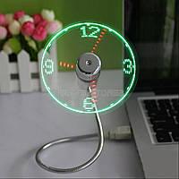USB Clock Fan вентилятор под USB с функцией времени