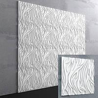 3d панели для стен из гипса «Les»