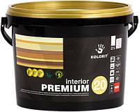 Краска INTERIOR PREMIUM 20  Kolorit для внутренних работ полуматовая гипоаллергенная А 2,7 л