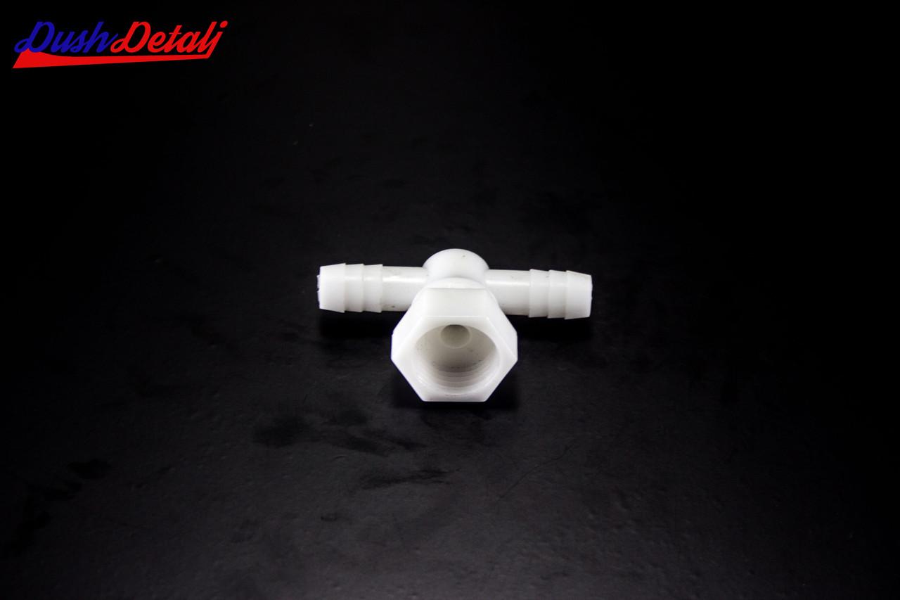 Уголок пластиковый, поворотный, проходной, штуцер-гайка ( Y-02 ) с внутренней резьбой.