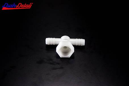 Уголок пластиковый, поворотный, проходной, штуцер-гайка ( Y-02 ) с внутренней резьбой., фото 2