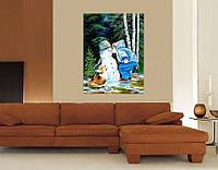 """Картина маслом """"Слёзы снеговика"""""""