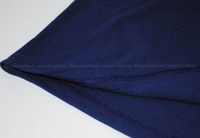 Тёмно-синяя мужская плотная футболка