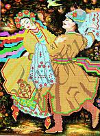 Схема для вышивки бисером Украинский народный танец Коломия КМР 4065